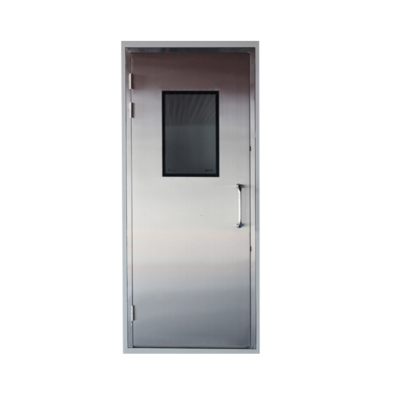 Stainless steel cleanroom doorjpg HY Cleanroom System